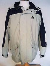O'Neill Men's Sz M Nylon Zip Up Snow Jacket Drawstring Hood & Hem