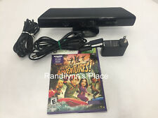 Xbox 360 Kinect Sensor Official Black With Kinect Adventures!
