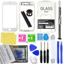 White iPhone 8 Front Screen Glass Lens Replacement Kit LOCA glue wire pry tool