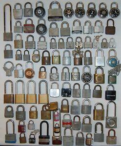 Lot of 88 Old Vintage Padlocks & Combination Locks Yale Master Corbin American
