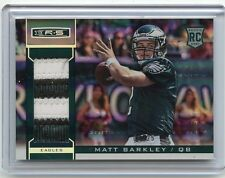 2013 ROOKIES & STARS #225 MATT BARKLEY PATCH ROOKIE RC #1/25 PHILADELPHIA EAGLES