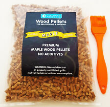 BBQ Maple Wood Smoking Pellets Camerons 2 lbs with Silicone Basting Brush