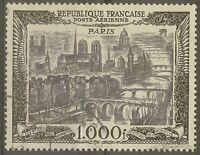 """FRANCE STAMP TIMBRE AERIEN N°29 """" VUE DE PARIS 1000F 1950 """" OBLITERE TTB"""
