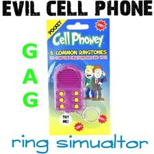Prank Pocket Cell Phone Ringtone Key Chain - 6 COMMON SOUNDS ~ Big Mouth Toys