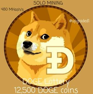 DOGE Crypto Mining 1 week Solo Mining contract Lottery 12,500 DOGE COIN reward!