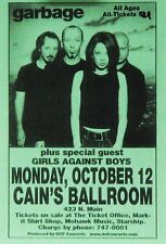Garbage Shirley Manson 1999 Cain's Ballroom Tulsa OK Concert Handbill Flyer