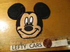 MICKEY MOUSE HEAD EMBROIDERED Cloth PATCH - SEW ON TYPE
