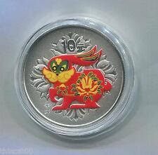 China 2011 Rabbit Silver Colorized 1 Oz Coin