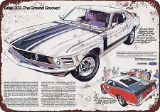 1970 Ford Mustang Boss 302 Reproduction Metal Sign 8 x 12