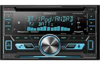 Kenwood Double Din Receiver with Built in Bluetooth Aux and USB Inputs DPX502BT
