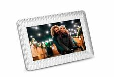 Polaroid PDF-750ST Digital Photo Frame w/ Decorative Textured Silver Metal ™
