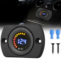 Car Marine Motorcycle LED Digital Voltmeter Voltage Meter 12V Battery Gauge Kit