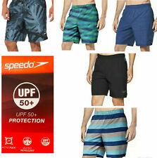 NEW Men's Speedo Tech Volley Water Shorts Trunks Swim UV 50+ Stretch Liner