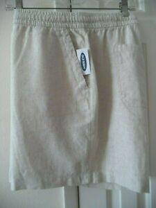 Must Have! Old Navy Light Khaki Beige Tan Linen Blend Casual Short 18 20 2X XXL
