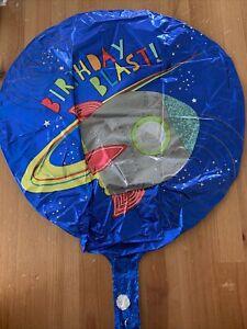 Foil Balloon Birthday Party Space Theme Happy Blast 30cm Rocket