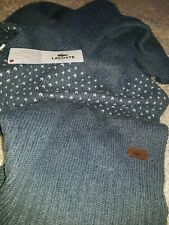 Lacoste Long Wool Mix Unisex Scarf Rrp £75