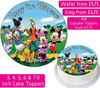 MICKEY MOUSE CLUBHOUSE EDIBLE WAFER & ICING PERSONALISED CAKE TOPPERS DECORATION