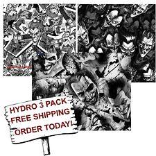 HYDROGRAPHIC FILM WATER TRANSFER PRINTING FILM HYDRO DIP THE JOKER  3 PACK