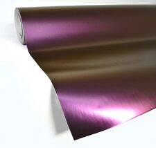 "Purple satin chameleon vinyl car wrap 50ft x 56"" adhesive film decal stretch"