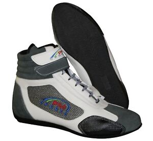 Adult Grey Karting / Race/Rally/Track Boots with Synthetic Leather/Suede NEW