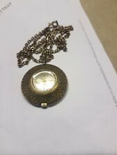 Retro Vintage Ladies pendant fob Watch on Chain working wind up
