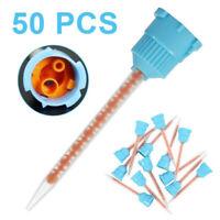 Silicone Rubber Disposable Dental Impression Mixing Tips Blue Orange 10:1 50Pcs