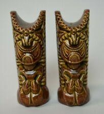 Vintage 1960s Kalalena Hawaii Tiki Salt & Pepper Shakers 1963