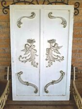 New listing Stunning Antique Gesso Angel/Ribbon/Floral Large Cabinet Door