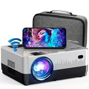 DBPOWER L22 Projector, 7500L 1080P Supported, WiFi Screen Mirroring UPGRADE 2021