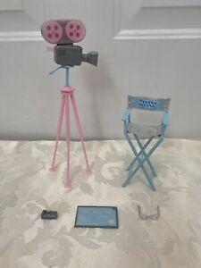Mattel 2003 Teresa Movie Star Barbie Doll Accessories Director chair camera