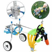 XS Silla de ruedas de Aleación de aluminio para Mascota Perro discapacidad rueda