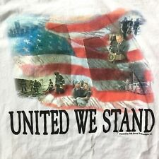 "Vintage 2001 9/11 FDNY NYPD WTC World Trade Center Shirt ""United We Stand"" Small"