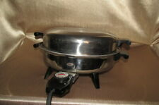 "AMWAY Stainless Steel Electric Skillet Model 7453 12"" TESTED"