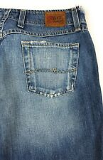 BKE Buckle Sassy Regular Mid Rise Flare Distressed Blue Jeans Women's 32R