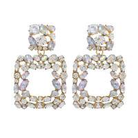 Elegant Fashion Women Birthday Gifts Crystal Drop Ear Stud Earrings Jewelry