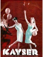 3 PAIR VINTAGE KAYSER NYLON STOCKINGS UNWORN IN ORIGINAL BOX 1940'S 1950'S SZ 9M