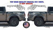 """FORD RAPTOR Truck Bedside Decal with Raptor Claw scratch 2 Set decal 32"""" x 10.5"""""""