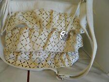 White Lazer Cut Marc Ecko Handbag