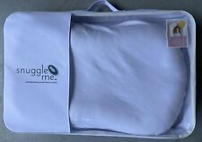 Snuggle Me Original Patented Sensory Lounger for Baby White