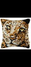 New listing Latch Hook Pillow Kit - 15.7 X 15.7 Inches - Leopard