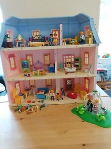 Playmobil House Mansion Pink Blue 5303 furnished rooms