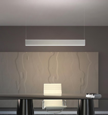 Dimmable 36W 1200*50*80mm Modern LED Linear Pendant + Installation kit White