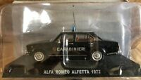 "DIE CAST "" ALFA ROMEO ALFETTA 1972 "" SCALA 1/43 CARABINIERI"