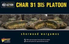 28mm Warlord French Char B1 Bis Platoon Of Three Tanks BNIB, WWII Bolt Action,