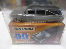 Matchbox Hearse '63 Cadillac  #09 Superfast Box & Car New in package Gray silver