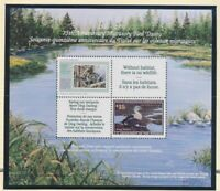 US #RW58 Migratory Bird Conservation Stamp 75 Anniv. Souv, Sheet 1992 w/ Program