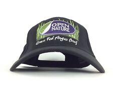 Safeway Open Nature Grass Fed Angus Beef Black Baseball Cap Hat Adj Adult Cotton