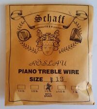 Schaff Roslau Piano Music Treble Wire Size 13 .031 1/3 Lb Coil 130' with Brake