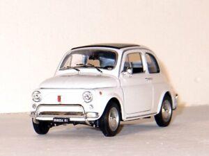 FIAT 500 - 1957 - white - WELLY 1:18