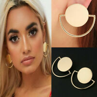 Fashion Women Statement Boho Geometric Round Circle Ear Stud Dangle Earrings